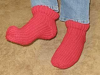 Loom Knitting Patterns For Slippers : Loom knit - Slipper socks Loom Knitting Pinterest