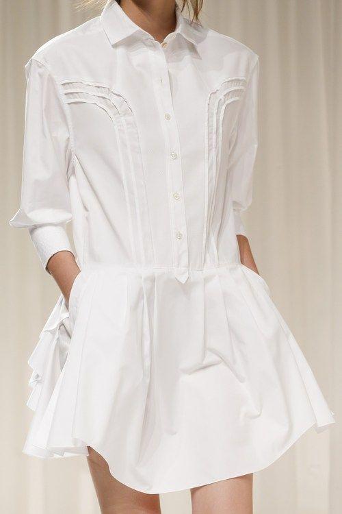 Style - Minimal + Classic: Nina Ricci white shirt-dress