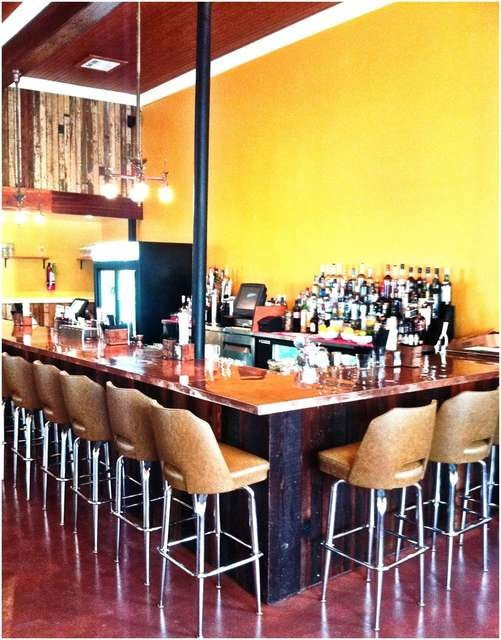 The bar at Maurepas Foods in the Bywater. And great food too. One of ...