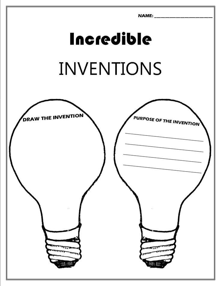 Inventor Convention worksheet | Future classroom ideas and activites ...