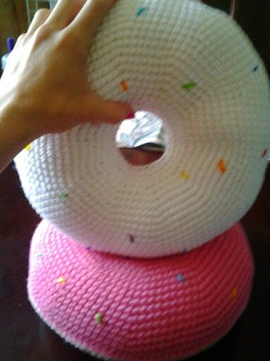 Crochet Donut Pillow : Crochet donut pillows Products I Love Pinterest