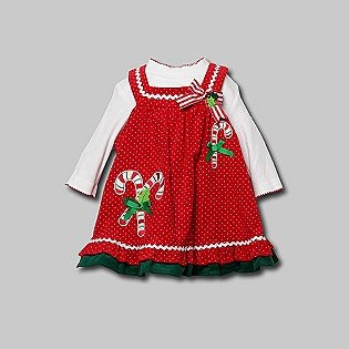 Rare too infant and toddler girl s dress candy cane long sleeve