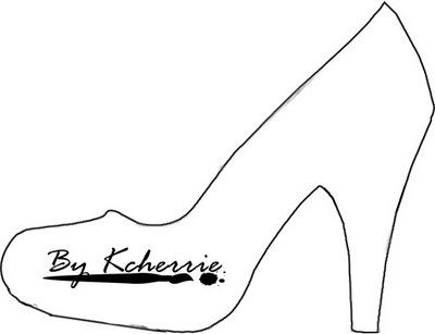 High heel paper shoe template stencils transfers for High heel template for cards