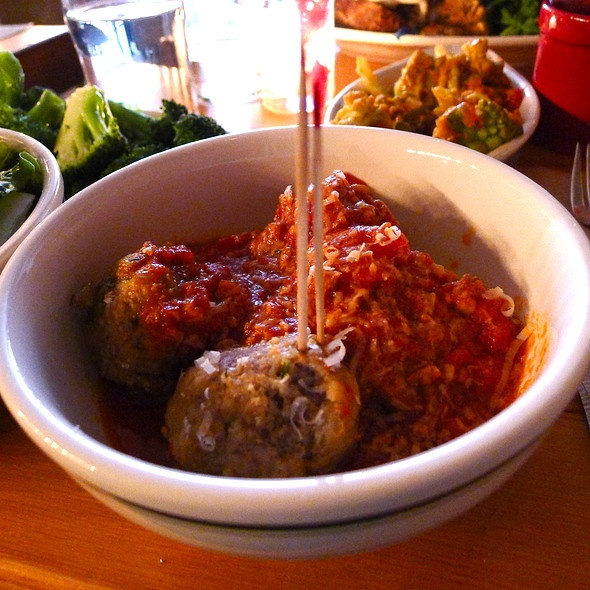 Classic Beef Meatballs with Spicy Meat Sauce @ Meatball Shop NY