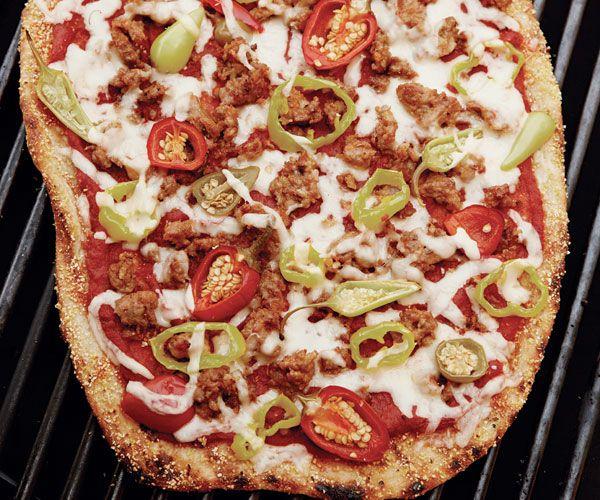 Grilled Sausage And Eggplant Parmigiano Pizza Recipe — Dishmaps