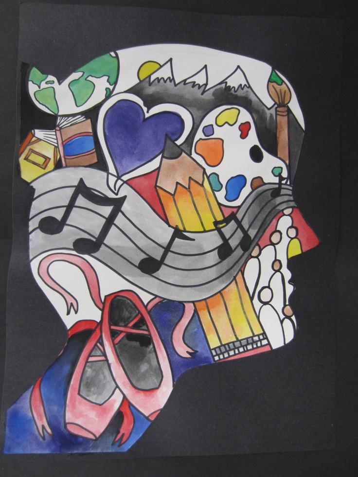 Identity Silhouette.   6th Grade Art Projects   Pinterest