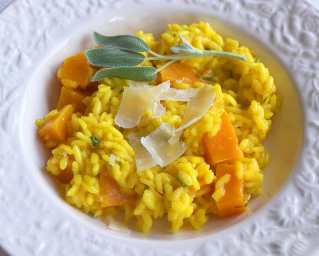butternut squash risotto with sage and saffron. i'm going to restart ...