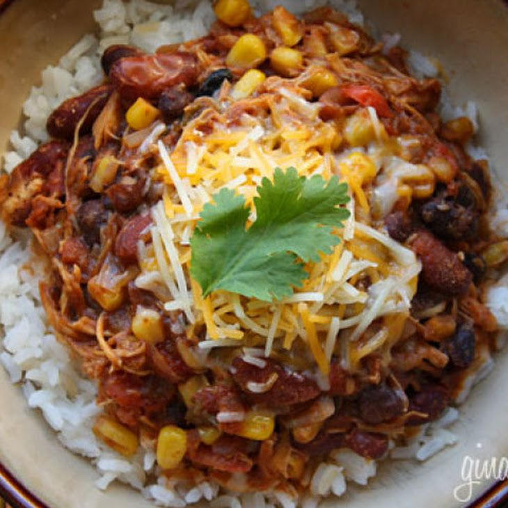 Crock Pot Chicken Taco Chili | Recipes to try | Pinterest