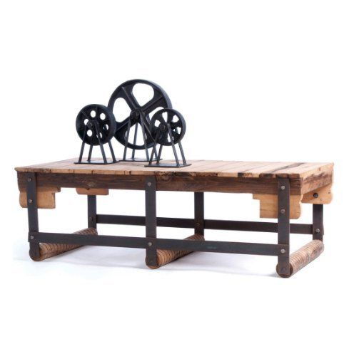 Wood Industrial Coffee Table By Kathy Kuo Home