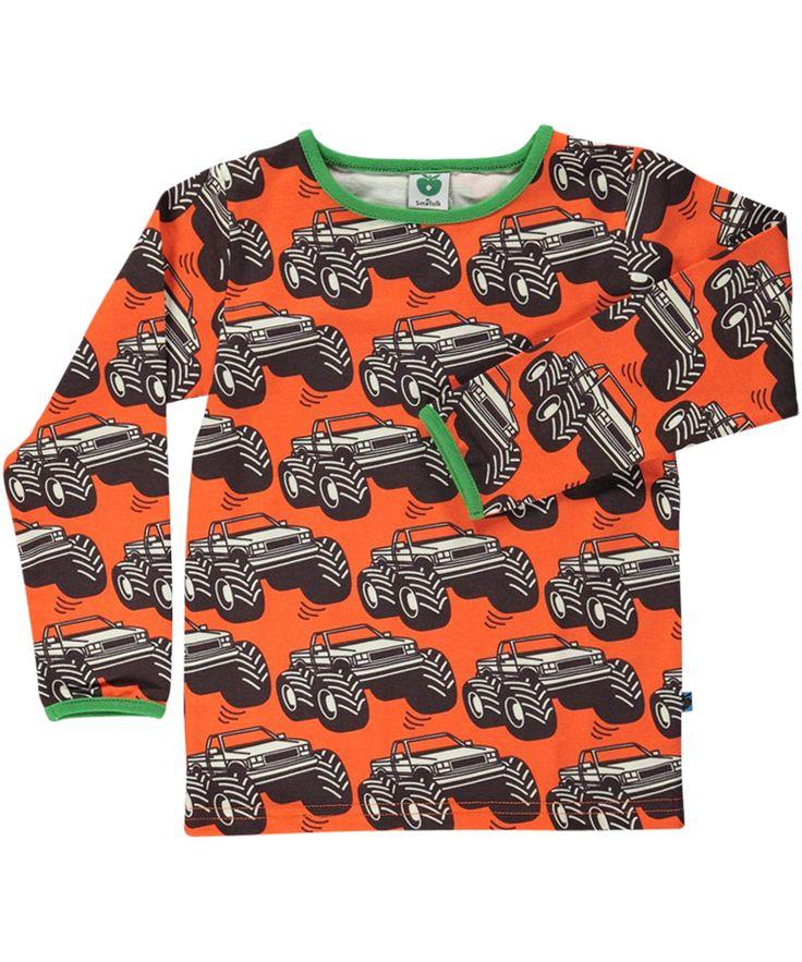 Småfolk super cool orange t-shirt with monster truck