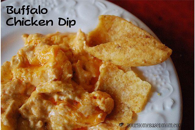 buffalo chicken dip -@yourhomebasedmom.com #appetizers,#dips
