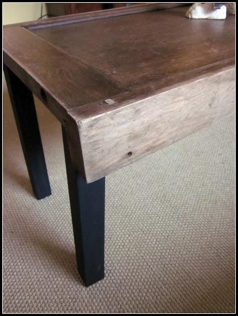Antique Door Turned Coffee Table In Progress
