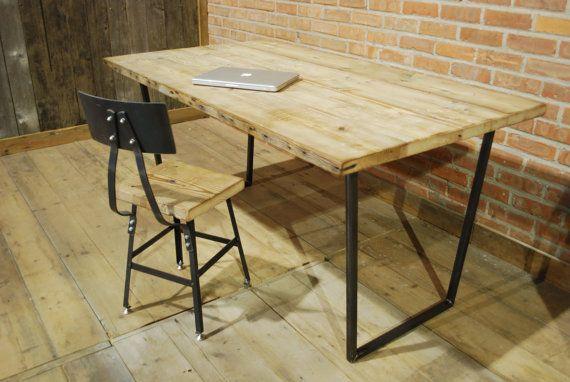 ... storage Brooklyn Modern Rustic Reclaimed Wood Desk by UrbanWoodGoods