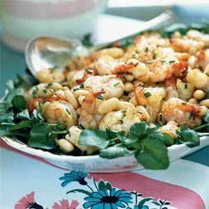 ... Me & Co.'s White Bean, Shrimp and Watercress Salad with Avocado Oil