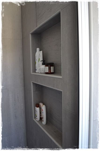 inbyggda hyllor i badrum  bathroom  Pinterest