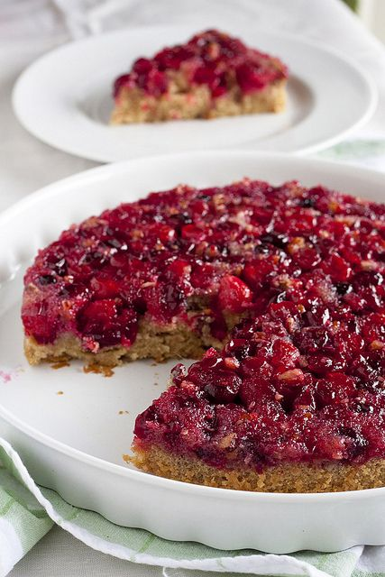 Cranberry Upside-Down Cake #recipe #dessert #cake