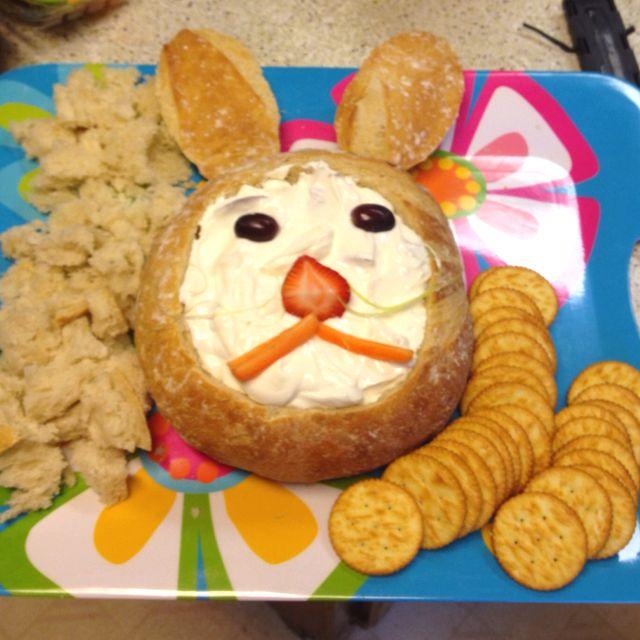 Bunny bread dip | Easter Treats | Pinterest