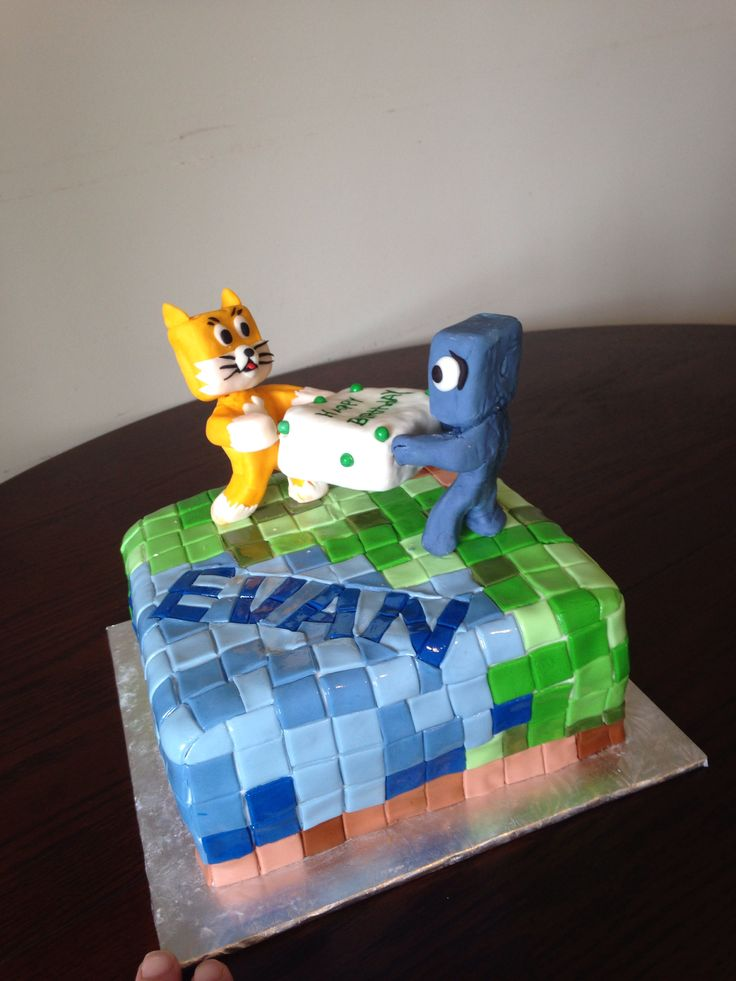 Minecraft cake My cakes Pinterest