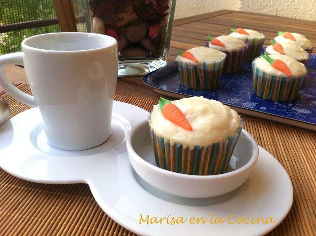 Marisa en la Cocina: Cupcakes de Pastel de Zanahoria o Carrot Cake