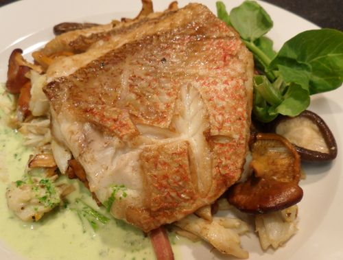 Sauteed Louisiana Red Snapper with Shiitakes, Country Ham, Lump Crab ...