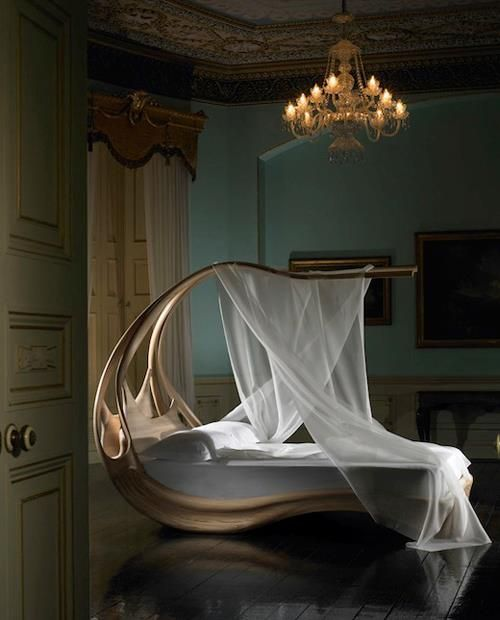 elegant canopy bed for the home pinterest