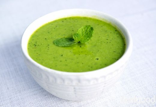 green pea, mint & ginger vegan soup | Cook Yummy! | Pinterest