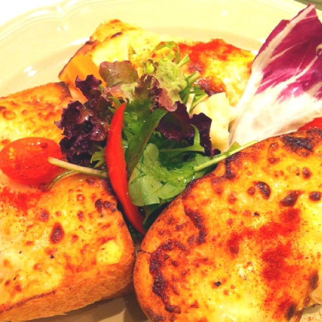 croque monsieur for lunch. hot ham and cheese (typically Emmental or ...