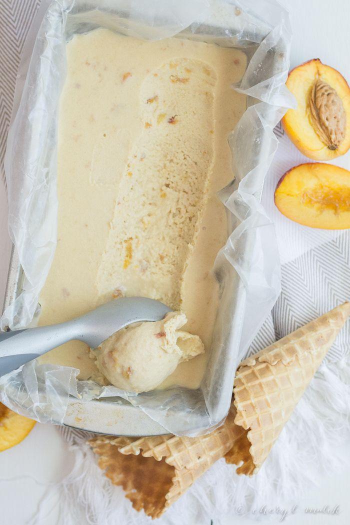Vegan Peach Ice Cream. 7 ingredients, no refined sugars, no gluten ...