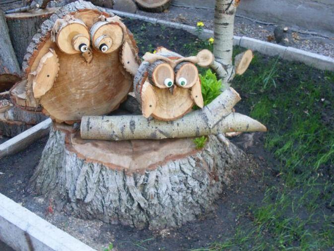 Поделки из дерева и веток для сада 3