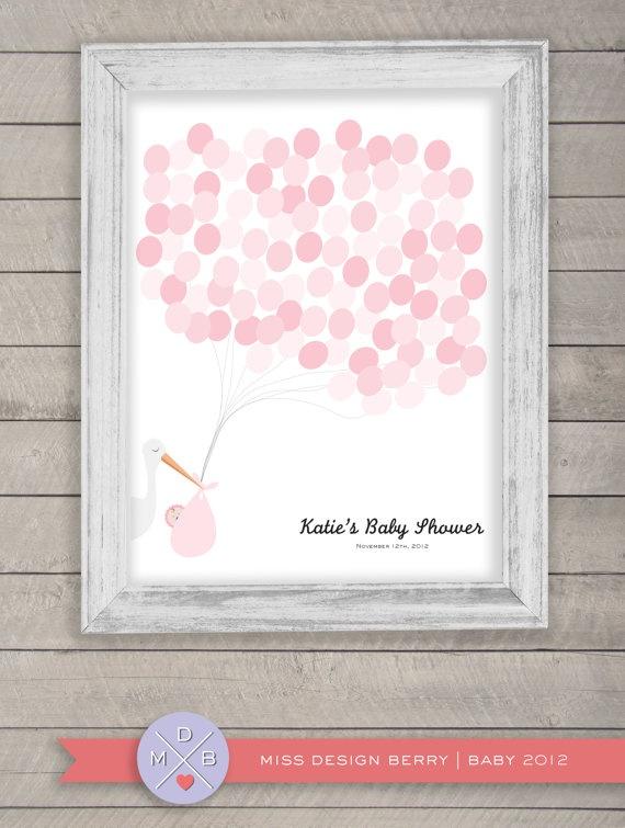 baby shower guest book alternative balloon by missdesignberry