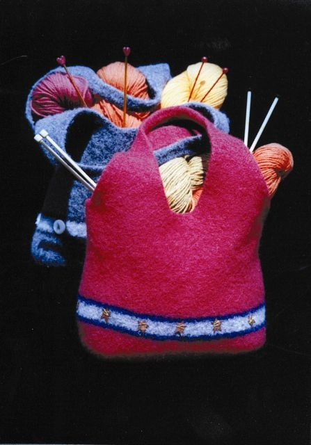 Felted project bag