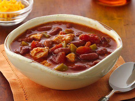 Easy Chicken Chili - Super easy chicken chili makes a fiber-full meal ...