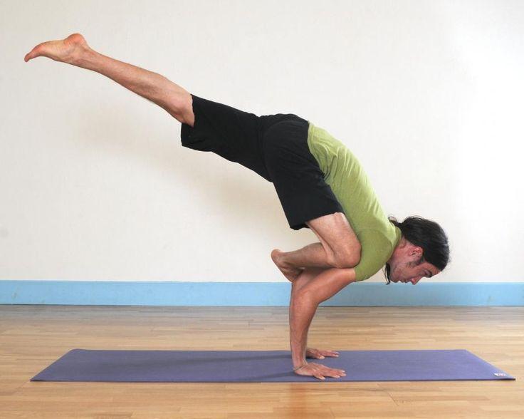 Flying crow yoga