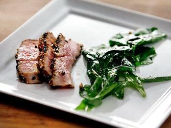 Sesame Crusted Tuna with Arugula | Seafood Recipes | Pinterest