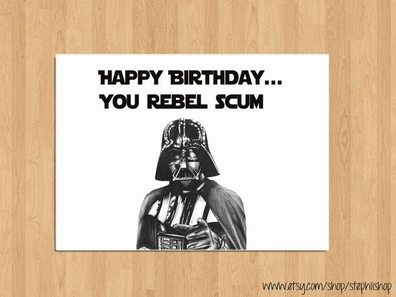 Funny Happy Birthday Star Wars Card//Happy Birthday by StephiiShop, $3 ...