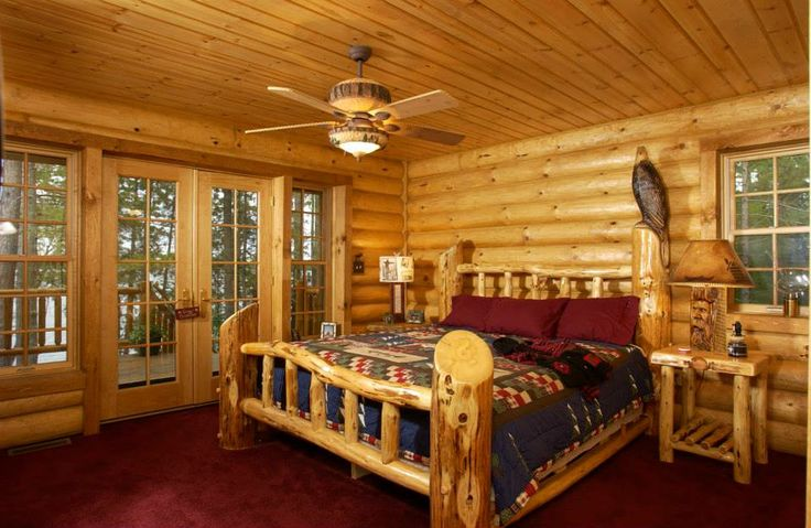 Bedroom Log Cabin Beauty Pinterest