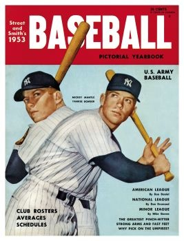 New York Yankees' Mickey Mantle - 1953 Street and Smith's - CLICK Cover to Buy Reprint!