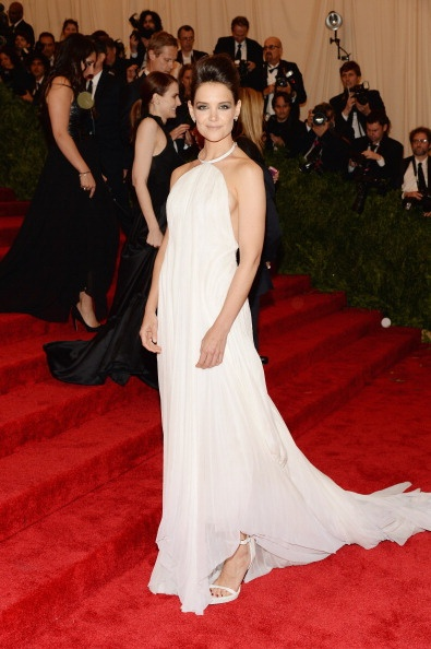 Katie Holmes in white Calvin Klein Collection at the Met Gala 2013