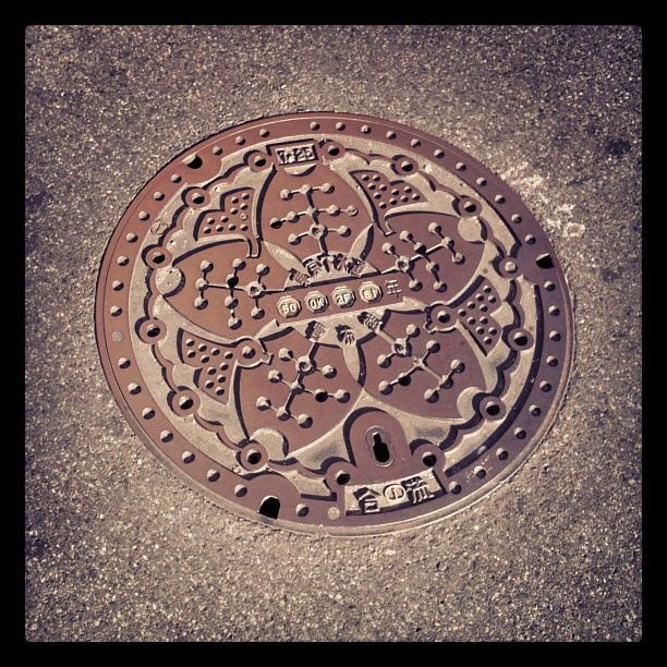 So many awesome sewer covers in Japan. This one snapped by @vlvstyle ...