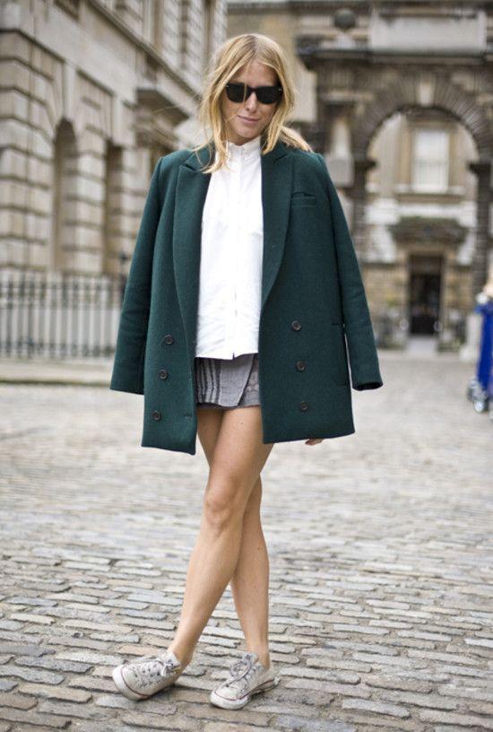 Green Coat, London | Street Fashion | Street Peeper | Global Street Fashion and Street Style