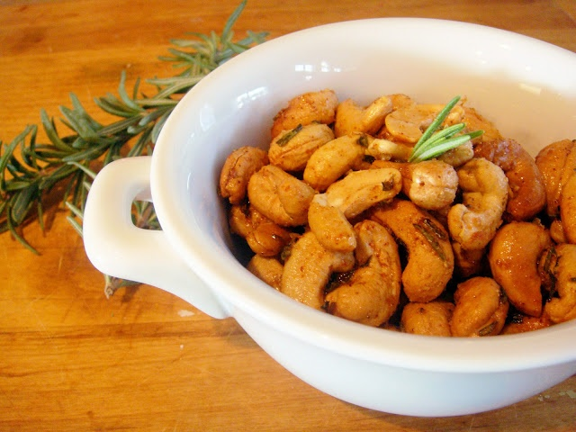 totally addictive spicy rosemary nuts!
