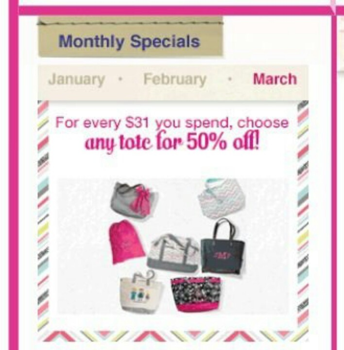 March special thirty one products amp specials pinterest