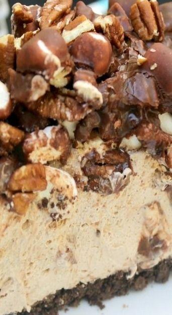 Mississippi Mud Pie No Bake Cheesecake | Recipe