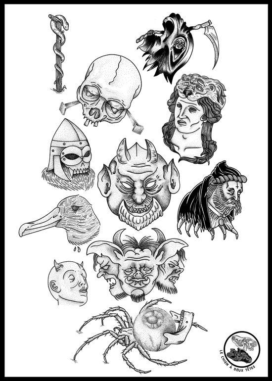 Flash Sheet   Tattoos   Pinterest