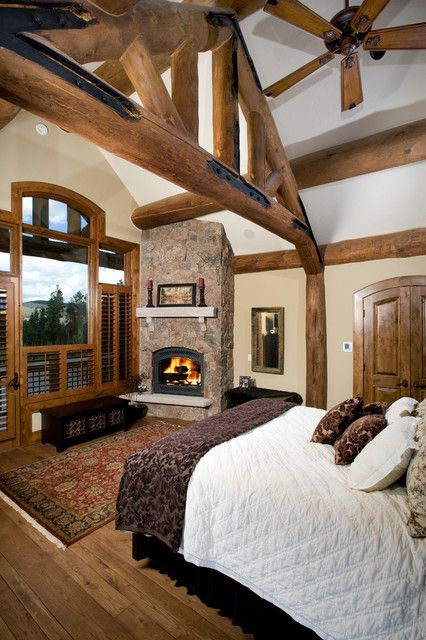Dream bedroom for a log cabin house(: