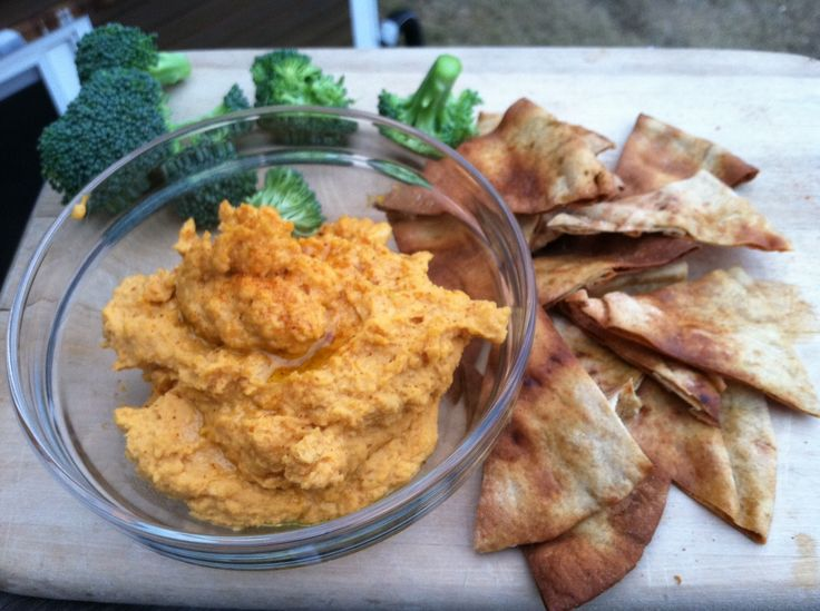 spicy sweet potato hummus | Vegan Dips, Sauces & Spreads | Pinterest
