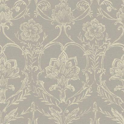 Gray And Cream Damask Wallpaper Wallpaper Pinterest