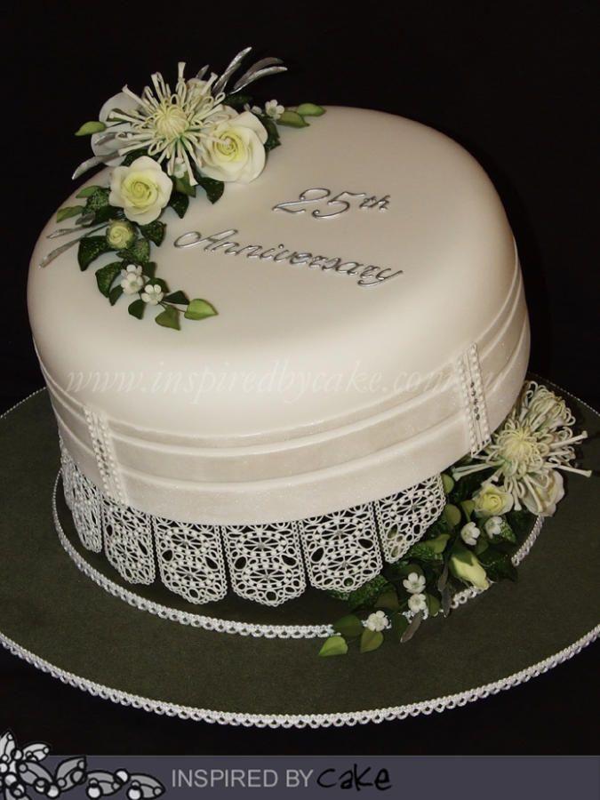 Cake Designs For 25th Anniversary : 25th Anniversary Cake Food Art Pinterest