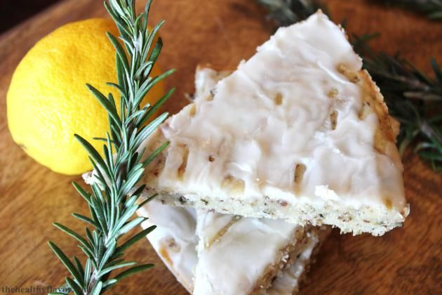... -free, oil-free shortbread with fresh flavors of rosemary and lemon