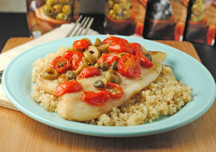 Grilled Tilapia with Olives, Tomatoes, & Capers from @Jen @ Juanita's...